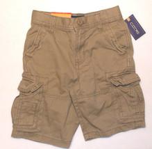 Cherokee Boys Cargo Shorts Adjustable Waist Beige Size 4 NWT - $8.19