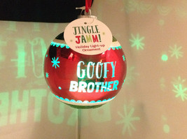 """""""Goofy Brother"""" Christmas Tree Ornament Ball Sphere Lights Up Red Green & Blue image 3"""