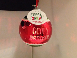 """""""Goofy Brother"""" Christmas Tree Ornament Ball Sphere Lights Up Red Green & Blue image 2"""