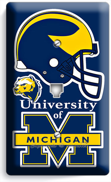 Primary image for MICIGAN UNIVERSITY FOOTBALL TEAM PHONE TELEPHONE WALL PLATE COVER BOYS BEDROOM