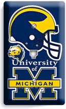 MICIGAN UNIVERSITY FOOTBALL TEAM PHONE TELEPHONE WALL PLATE COVER BOYS B... - $9.89