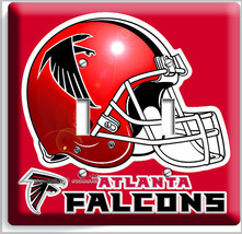 ATLANTA FALCONS FOOTBALL TEAM DOUBLE LIGHT SWITCH WALL PLATE BOYS BEDROO... - $9.71