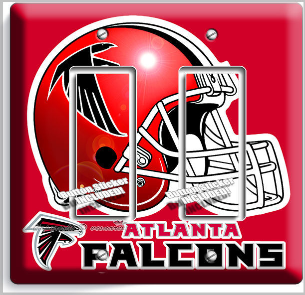Primary image for ATLANTA FALCONS FOOTBALL TEAM DOUBLE GFI LIGHT SWITCH WALL PLATE BOYS ROOM DECOR
