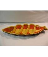 Unique Vintage Retro Brown Yellow Orange USA 606 Divided Serving Tray / ... - $37.13