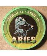 """Aries"" Good Luck Casino Chip - (sku#2129) - $2.99"