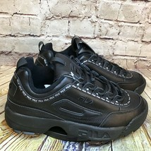 Fila Disruptor 2 Womens All Black Synthetic Leather Lace Up Sneakers Siz... - $42.16