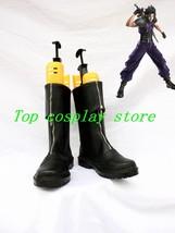 Final Fantasy VII Zack Fair Zacks's Black Cosplay Shoes Boots Cloud Strife shoe - $63.00