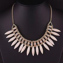 New Fashion Women Crystal Pendant Chain Choker Chunky Statement Bib Neck... - €8,52 EUR