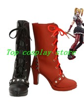 Batman Arkham Knight Game Harley Quinn Cosplay Shoes Boots High Heel Custom Made - $63.00
