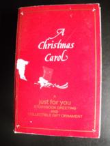 Bradford Novelty Co Christmas Ornament 1985 A Christmas Carol Storybook Boxed - $7.99