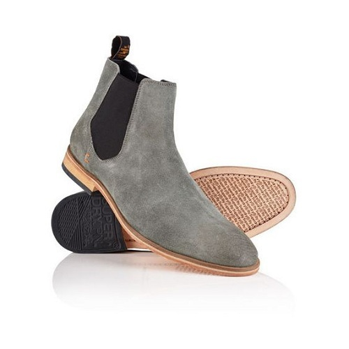 Handmade Men Suede Chelsea boots, Men Gray color ankle boots, Ankle boot for men