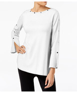 $69.5  Alfani Embellished Pullover Sweater Soft White L - $42.46