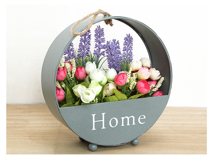 Metal Home Planter for Wall Hanging or ecoration, 3 Pieces