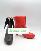 Batman Harley Quinn one black one red high heel ver cos Cosplay Shoes Boots shoe - $56.00