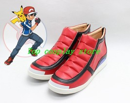 Pokemon Pocket Monsters XY Ash Ketchum cos Cosplay Shoes Boots shoe boot - $57.97