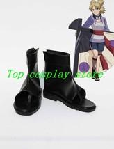 Naruto Anime Temari Ninjia Cosplay Shoes Boots #NAR018 pu leather shoe boot - $59.00