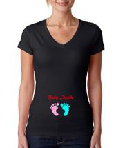 Baby inside, pregnancy maternity Womens T Shirt black T-Shirt XS-XXL - $17.00