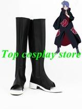 Naruto Konan Akatsuki Ninja Cosplay Shoes boots PU leather shoe boots gift party - $65.00