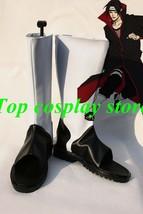 Naruto Uchiha Itachi Itachi Uchiha Akatsuki Ninja Cosplay Shoes boots PU leather - $65.00