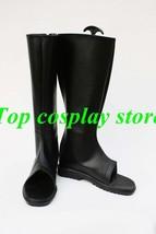 Naruto Uchiha Itachi Anime Akatsuki Ninja Ninjia Cosplay Shoes boots long black - $65.00