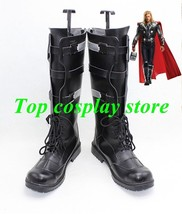Marvel's The Avengers Captain America Thor 2 Thor Odinson cosplay shoes boots v3 - $65.00
