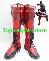 Marvel's The Avengers Captain America Steven Steve Rogers cosplay shoes boots - $65.00