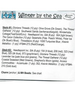 EMBELLISHMENT PACK Winter By The Sea cross stitch chart Jeanette Douglas... - $34.20