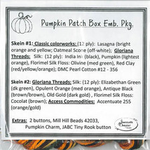 EMBELLISHMENT PACK Pumpkin Patch Box cross stit... - $54.00