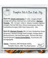 EMBELLISHMENT PACK Pumpkin Patch Box cross stit... - $54.00