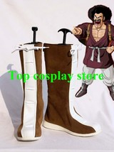Dragon Ball Mr. Satan Hercule Cosplay Shoes Boots Hand Made Custom Made #DB007 - $64.00