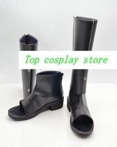 Naruto Cosplay Sakura Haruno Black Shinobi Boots shoes Ninja Version D #NAR005 - $64.00
