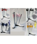 Yellow red pink blue black Zyuranger Power Ranger Superhero Boots shoes ... - $65.00