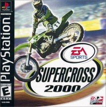 Supercross 2000 PS1 Great Condition Complete Fast Shipping - $6.93