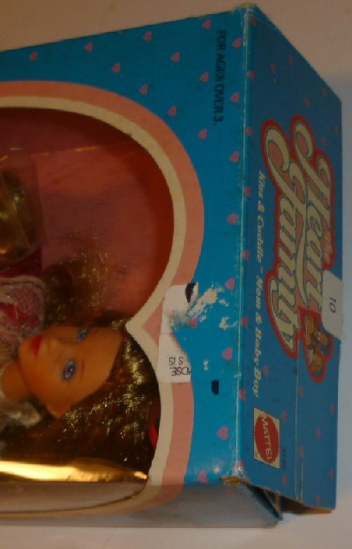 Vintage 1986 Mattel HEART FAMILY KISS & CUDDLE Mom +Baby Doll Mint in opened box