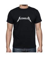 Alcoholica Funny mens T-Shirt Size S-XXL Black - $17.00
