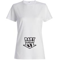 Baby inside, pregnancy maternity Womens T Shirt white T-Shirt XS-XXL - $17.00