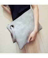 Fashion Leather Envelope Women Clutch Handbags - £16.57 GBP