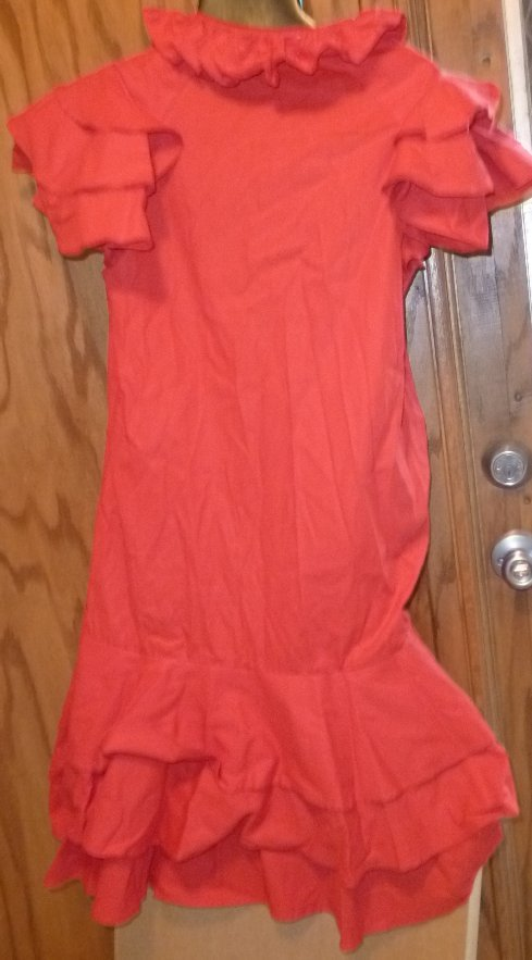 Vintage 80s FANTASTIK VOYAGE Robyn Mehl red ruffle cotton Gypsy Dress size S