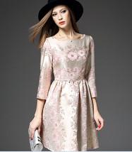 Autumn of 2017 New Style European Women's High-end Boutique Jacquard Slim dress - $42.50