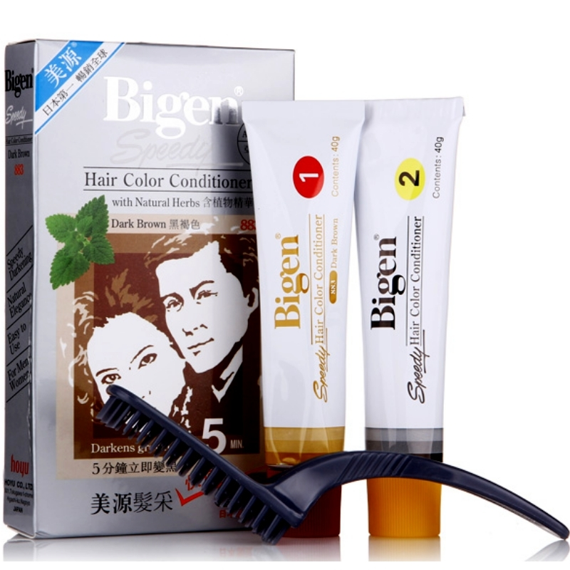 Bigen hair color conditioner with natural herbs brownish black  883