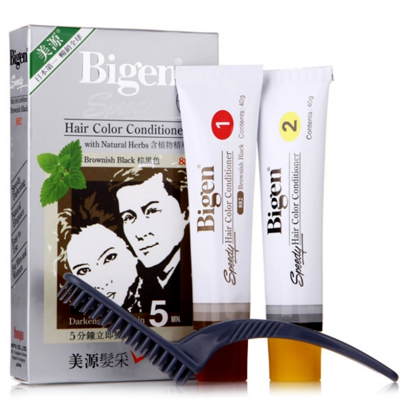 Bigen hair color conditioner with natural herbs brownish black  882