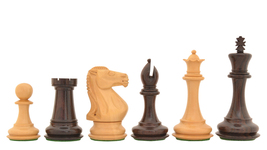 "The Staunton Series Weighted Chess Pieces in Rose & Box Wood-4.2"" King SKU:S1284 - $236.99"