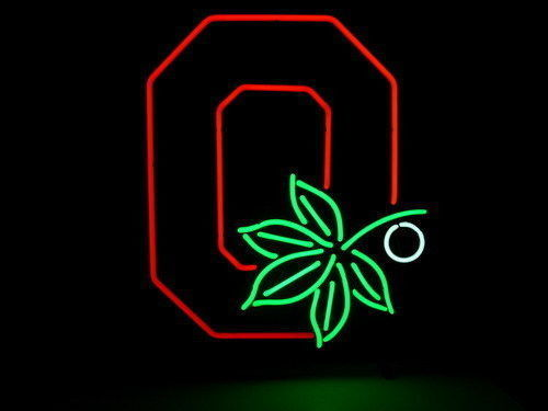 Primary image for Ohio State Buckeyes 3 neon sign 17''X14'' t41 shipped from USA