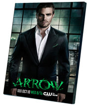 "Arrow Oliver Queen Stephen Amell TV Series 8""x12"" (20cm/30cm) Canvas Print - $20.00"