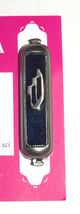 Judaica Car Mezuzah Case Travel Protection Charm Blue Enamel Pewter Shin 4 cm image 1