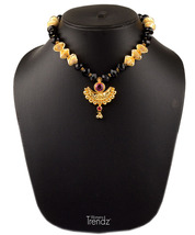 Womens Trendz Chand Pandal Unique Haar 24K Gold Plated Alloy Necklace - $37.00