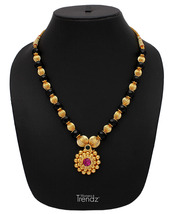 Womens Trendz Mani Pandal Unique Haar 24K Gold Plated Alloy Necklace - $37.00