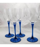 France Luminarc Cobalt Blue Stem Wine Glasses (4) - $21.78
