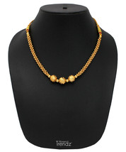 Womens Trendz Vertical Ball Jhondhal Pot 24K Gold Plated Alloy Necklace - $33.00