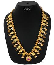 Womens Trendz Long Kolhapuri Saaj 24K Gold Plated Alloy Necklace - $55.00